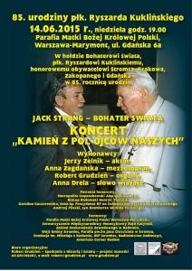 Plakat koncert Warszawa 2015
