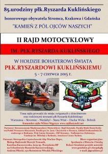 Plakat rajd motocyklowy 2015